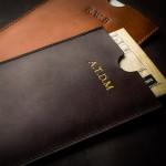 Certificate Wallet in Mid Tan