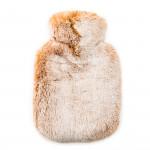 Rabbit Fur Hot Water Bottle in Beige/Snow top