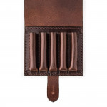 Large 5Rd Closed Ammunition Belt Wallet in Dark Tan