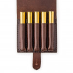 Large 5Rd Closed Ammunition Belt Wallet in Dark Tan