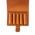Small 5Rd Closed Ammunition Belt Wallet in Mid Tan