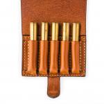 Small 5Rd Closed Ammunition Belt Wallet in Mid Tan