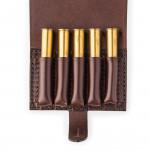 Small 5Rd Closed Ammunition Belt Wallet in Dark Tan