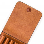 Large 5Rd Closed Ammunition Belt Wallet in Mid Tan