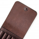 XL 5Rd Closed Ammunition Belt Wallet in Dark Tan