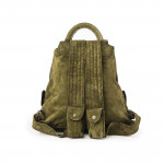 Impala Haversack in Olive Suede