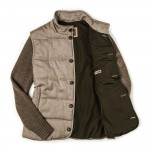 Quilted Coat With Knit Sleeves