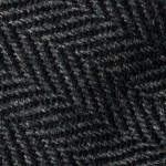 Hand Rolled Wool Herringbone Tie in Grey
