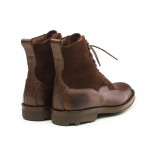 Galway Shearling Lined Leather & Suede Boots