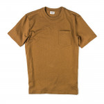 Short Sleeve Outfitter Solid One-Pocket T-Shirt in Tan