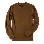 Waffle Knit Thermal Crew Neck