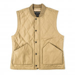 Quilted Pack Vest in Grey Khaki