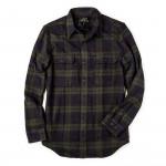Vintage Flannel Work Shirt in Black Green Navy