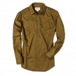 Feather Cloth Shirt in Marsh Olive
