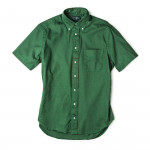Short Sleeve Over Dye Oxford in Olive