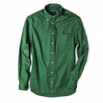 Long Sleeve Over Dye Oxford - Olive