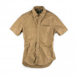 Short Sleeve Over Dye Oxford in Toast