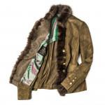 Ladies Seehornsee Suede Jacket with Fur Details