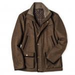 Men's Baldur Shooting Coat in Dark Brown Loden