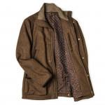 Men's Baldur Shooting Coat in Light Brown Loden
