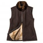 Ladies Fuschlsee Fur Lined Waistcoat