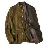 Men's Franz Ferdinand Suede Jacket in Moss