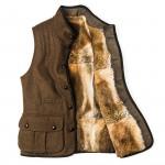 Men's Ambros Waistcoat with Rabbit Fur Lining