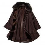 Ladies Stella Cape With Fur