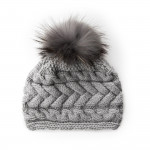 Plait Design Cashmere & Raccoon Fur Hat