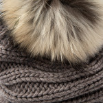 Laura Cashmere and Raccoon Fur Knit Hat