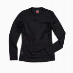 Ladies Long Sleeve Tech Top in Black