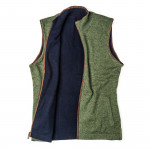 Reversible Cashmere Gilet in Olive & Navy