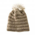 Laura Cashmere and Fox Fur Knit Hat