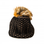 Beatrice Cashmere and Silver Fox Fur Knit Hat
