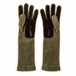 Ladies Gilda Cashmere and Leather Gloves