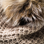 Cashmere &  Fox Fur Knit Hat in Sand