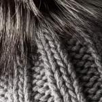 Cashmere & Fox Fur Knit Hat in Graphite