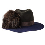 Ladies Florence Hat - Brown/Navy