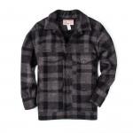 Wool Mackinaw Cruiser in Grey Black Plaid