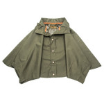 Rain Shoulder Cape Drizzle in Forest Green
