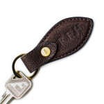 Leather Key Fob in Buffalo