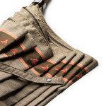 Mallard Print Umbrella with Leather Handle