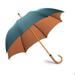 2 Tone Umbrella with Knotted Broom Handle