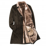 Men's Suede Shearling Coat