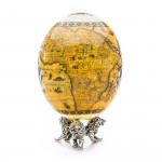 Ostrich Egg with Silver Base - Savanna