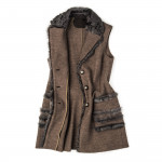 Ladies Shearling & Wool Lilliya Gilet