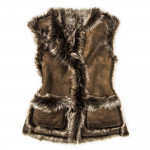 Ladies Grizzly Fur Waistcoat