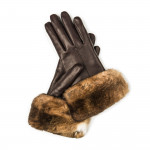 Ladies Nappa Leather Gloves with Orylag Fur