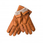 Men's Cashmere Lined Peccary Leather Gloves