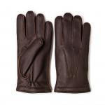 Men's Cashmere Lined Deer Skin Leather Gloves